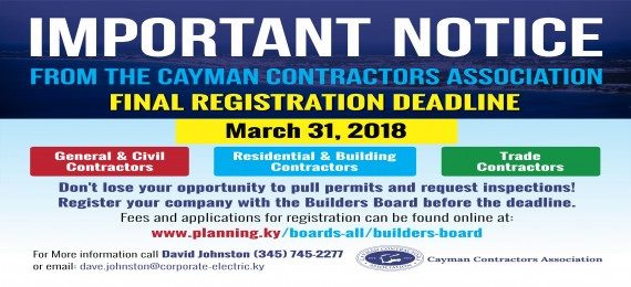 Builders Law Registration Extended