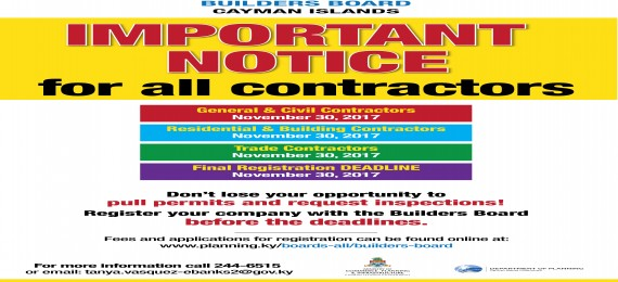 IMPORTANT NOTICE FOR ALL CONTRACTORS